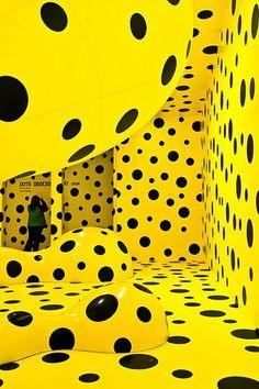 The Queen Of Dots » yayoi-kusama-yellow-black-dots