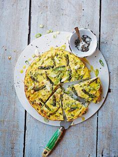 Chicken & asparagus crustless tart