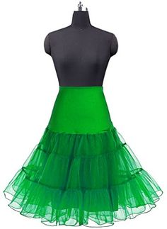 0a9cf5ab8f59a Hblld Women s Tutu Petticoat Dress Crinoline Ball Gowns Skirt Green L XL      Check out this great product.