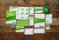 Triumph Bank Collateral by Kitbash Brand Design