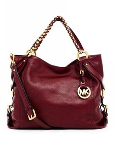 MICHAEL Michael Kors Tristan Large Shoulder Tote Bordeaux Leathe