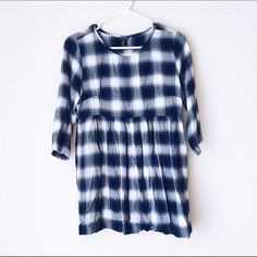 • new • F21 Blue Plaid Tunic Super cute tunic, only worn once. Soft, flannel-like material, but less hot. Very cute pattern. Should be hung up, not folded, unless you want to iron it every time you wear it! Forever 21 Tops Tunics