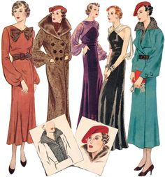 A 1930's pattern collection with very wearable pieces - just shorten the length on the day dress to make it modern.   http://www.ebay.com/itm/T0677-Ladies-1930-Seven-One-Ensemble-/380310233322?pt=LH_DefaultDomain_0&hash=item588c41a0ea#ht_500wt_951