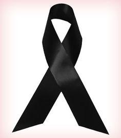 Black ribbons for skin cancer awareness