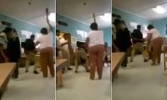Video shows girl screaming and squirming as she is PADDLED at school