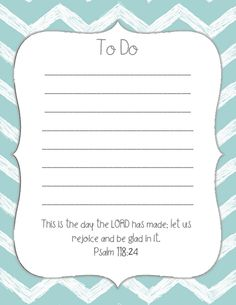 printable to do list - maybe put 4 on 1 page