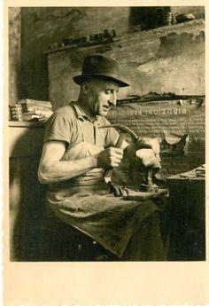LA BOTTEGA DEL CALZOLAIO (IL CIABATTINO) BELLA  FOTO D EPOCA (OLD PHOTO) ANNI 50