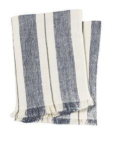 Stripe Linen Throw Navy/Stone - Pehr Designs - $136 - domino.com