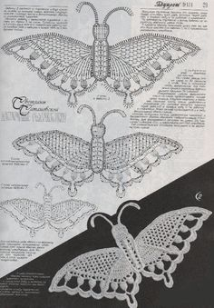 irish crochet motif butterfly