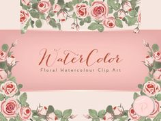 WCA70-pink-roses-floral-wedding-watercolor-clips