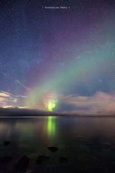 Blokken Sortland Kingdom of Norway: Stars and the Aurora Borealis [1350 x 810] [OS]