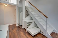Every centimeter is used: practical storage space under the stairs Source by mrlodge