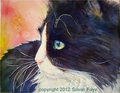 365 Cat Ladies and Friends: Buttonwillow In Profile... A Watercolor Tutorial