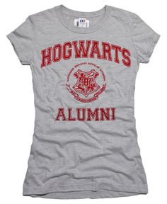 Hogwarts Alumni Harry Potter Halloween Juniors T-shirt Women's Girl's Ladies Tshirt Tee - Medium. $12.90, via Etsy.