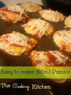 Mini Pizza Recipes, Mini Pizzas, Baked Potato, Potatoes, Baking, Ethnic Recipes, Kitchen, Easy, Food