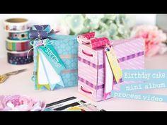 Bea Valint: Birthday Mini Album with Sparkle City collection Mini Scrapbook Albums, Mini Albums, Matt Parker, Cake Albums, Album Book, Heartfelt Creations, American Crafts, Mini Books, Handmade Items