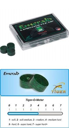 Cue Tips 75188: 5 Tiger Emerald Laminated Pool Cue Tips 14Mm Qty 5 Tips W/ Free Shipping BUY IT NOW ONLY: $33.75