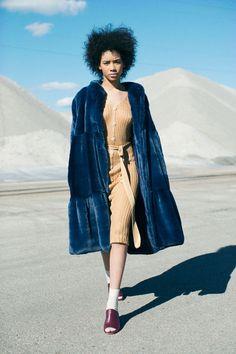 Maryam Nassir Zadeh - Tan Paris Knit Dress | BONA DRAG