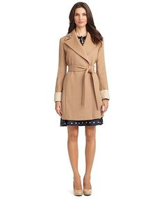 Brooks Brother Wool Double Face Coat Camel-Ivory