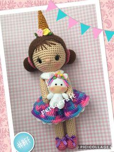 #amigurumi_unicorn #amigurumi #unicorn #doll #crochet_doll