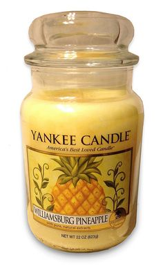 Yankee Candle Exclusive! ** Williamsburg Pineapple ** Large Jar : Fruit : Light Golden Yellow : Smells amazing!!! <3