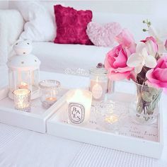 maybe some candle trays would look nice on the windowsill of the downstairs bedroom