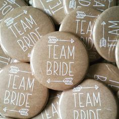 Kraft Brown Team Bride Badges Hen Party by AimeeClareDesigns