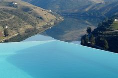 Infinite Pool designed by the renowned Portuguese architect Eduardo Souto Moura, at Quinta do Crasto, Douro, Portugal. Hotels Portugal, Places In Portugal, Douro Portugal, Punta Cana Beach, Water Architecture, Port Wine, Pool Designs, Cruise, Beautiful Places