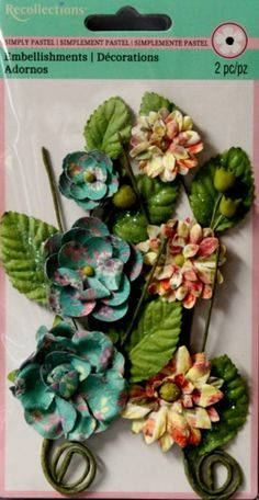 Recollections Simply Pastel Flower Embellishments are available at Scrapbookfare.