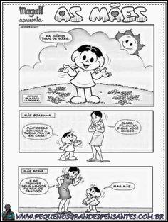 Pequenos Grandes Pensantes.: Tipos de mães - Maurício de Sousa