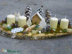 Téli tájkép-adventi asztaldísz,asztalközép (galamb70) - Meska.hu