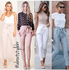 Bow pants and high waisted pants styling ideas is part of Summer pants outfits - High waisted pants are on the rise this fall season and they are definitely not fading away any time soon Build up your own collection of high waisted tie knot Casual Work Outfits, Business Casual Outfits, Professional Outfits, Office Outfits, Classy Outfits, Chic Outfits, Trendy Outfits, Summer Outfits, New York Spring Outfits