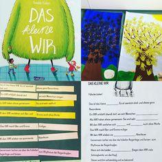 """Unsere Gefühlswerkstatt :-) ich kann das Buch """"das kleine wir"""" echt empfehlen! Zuerst wurde die Geschichte vorgelesen. Bilder wurden über eine PowerPoint Präsentation gezeigt. Danach ordneten die Kinder die Sätze im Team und füllten das Arbeitsblatt aus. Am Ende überlegten die Kinder was sie traurig macht (=schwarze Hand) und was sie glücklich macht (=grüne Hand) und klebten alles auf ein Plakat. #grundschule #grundschulleben #grundschulideen #grundschullehrerin #lehrer #lehrerin…"""