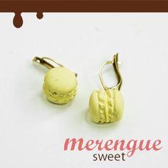 $16.00 Pendientes Macarons / Merengue Hand Made - Artesanio