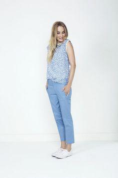 Shop tøj til kvinder hos den officielle Part Two shop Blue Pants, Trousers, Normcore, Leggings, Urban, Arrow Keys, Close Image, Change, Ink