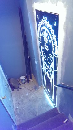 Hidden Lord of the Rings, Mines of Moria door into my basement movie theater! - Imgur