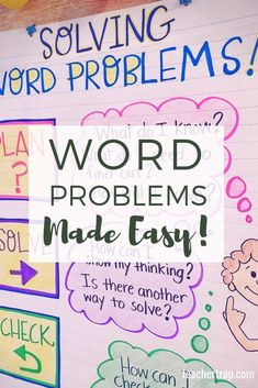 Help students master word problems with problem-solving routines that build critical thinking skills! Tips and tools for helping kids find success with addition, subtraction, multiplication, division and multi-step word problems! Teaching Multiplication, Teaching Math, Math Fractions, Teaching Tips, Word Problems 3rd Grade, Addition Words, Math Strategies, Math Resources, Math Words