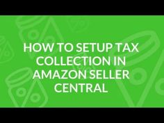 3 Things You Must Do Before Collecting Sales Tax on Amazon FBA Sell On Amazon, Money Saving Challenge, Saving Money, Amazon Seller, Sales Tax, Savings Plan, Budget Planner, Make More Money
