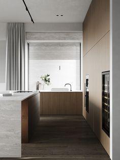 kitchen Interior Design Kitchen, Kitchen Designs, Kitchen Pantry, Minimalist Design, Bathtub, Bathroom, House, Kitchens, Interiors