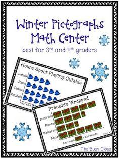 Winter Graphs Math Center $4- A math center you can use twice!