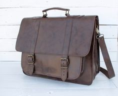 Leather Messenger Bag17 inch Laptop Bag Leather by MagusLeather