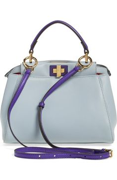 46ad9418c8 Fendi  Mini Peekaboo  Colorblock Leather Bag available at  Nordstrom  Lambskin Leather
