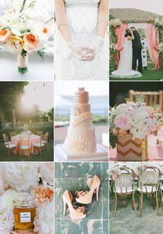 Summer Bridal Colors | Summer wedding color inspiration peachy dreams