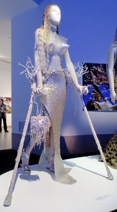 Gaultier mermaid with coral crutches
