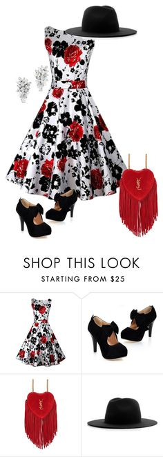 """""""Roses"""" by andrea-barbara-raemy on Polyvore featuring Mode, Yves Saint Laurent und Études"""