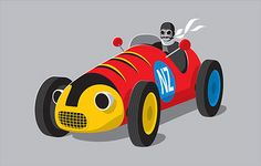 Retro Racer wall art from The little GALLERY of fine ARTS  Buzzy Bee New Zealand Icon.