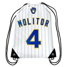 Paul Molitor Milwaukee Brewers Hall of Fame Player Drawstring Backpack - $7.99