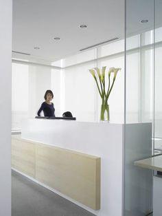 reception desk: