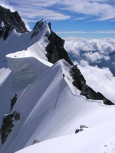 Rochefort Ridge, Mt. Blanc, Alps  on the border between Italy and France