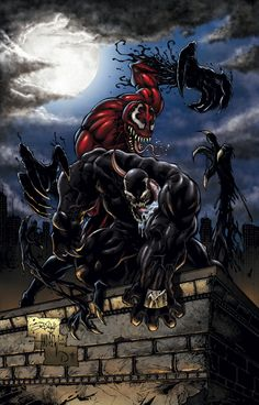 venom and carnage.... spiderman better look out!